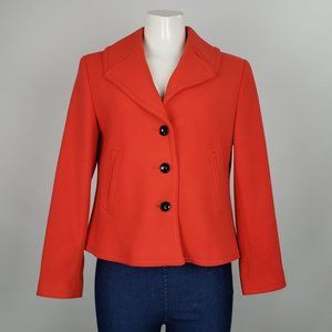 Evan Picone Petite Red Jacket Size 8P
